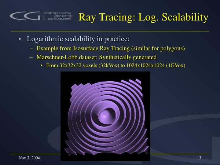 Ray Tracing: Log. Scalability