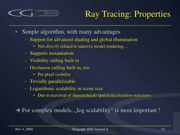Ray Tracing: Properties