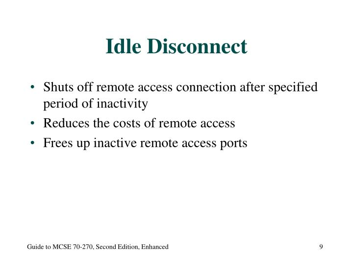 Idle Disconnect