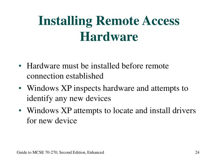 Installing Remote Access Hardware