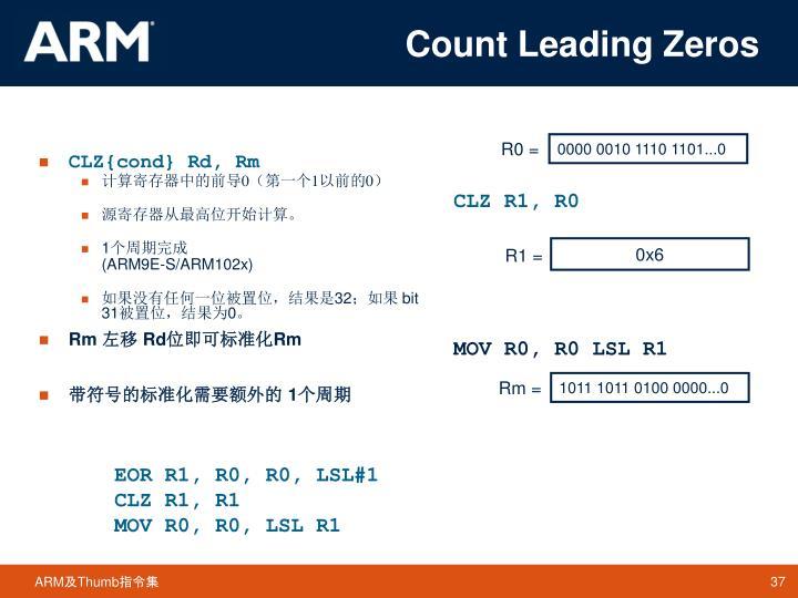 Count Leading Zeros