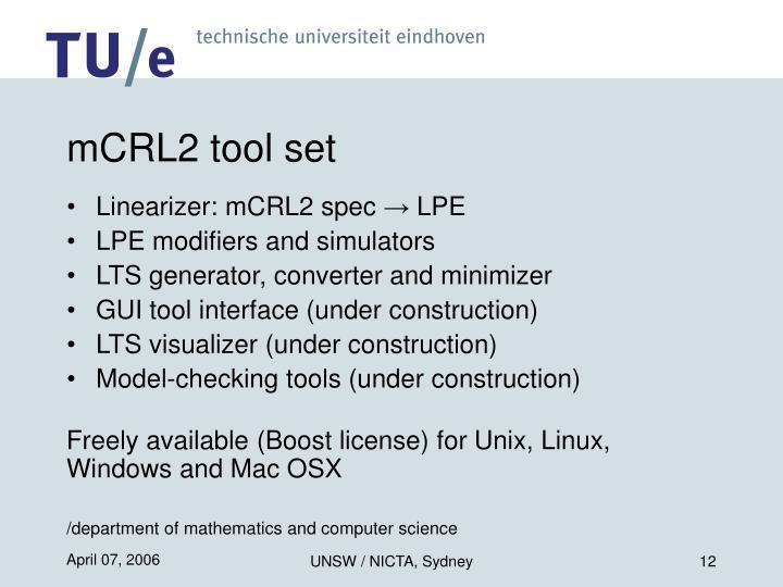 mCRL2 tool set