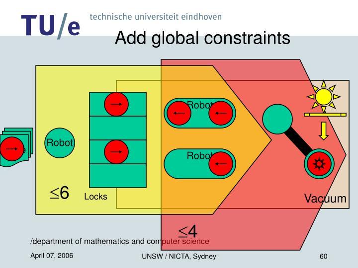 Add global constraints