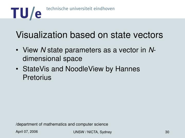 Visualization based on state vectors