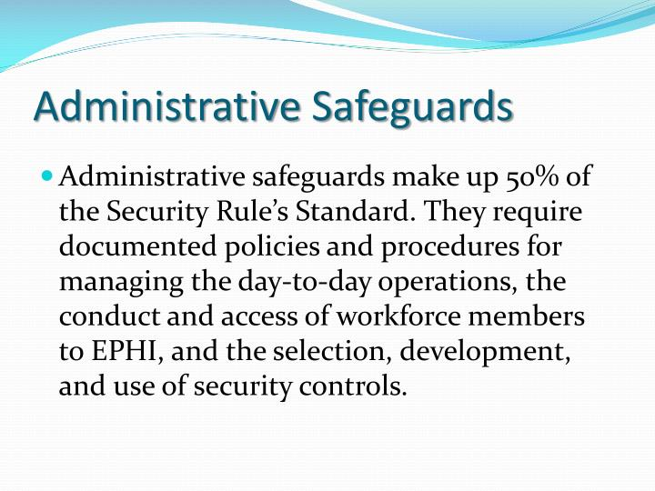 Administrative Safeguards