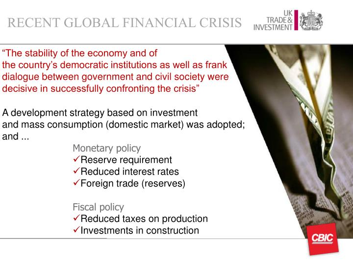RECENT GLOBAL FINANCIAL CRISIS