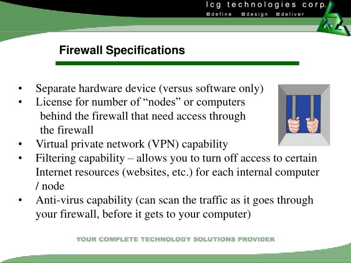Firewall Specifications