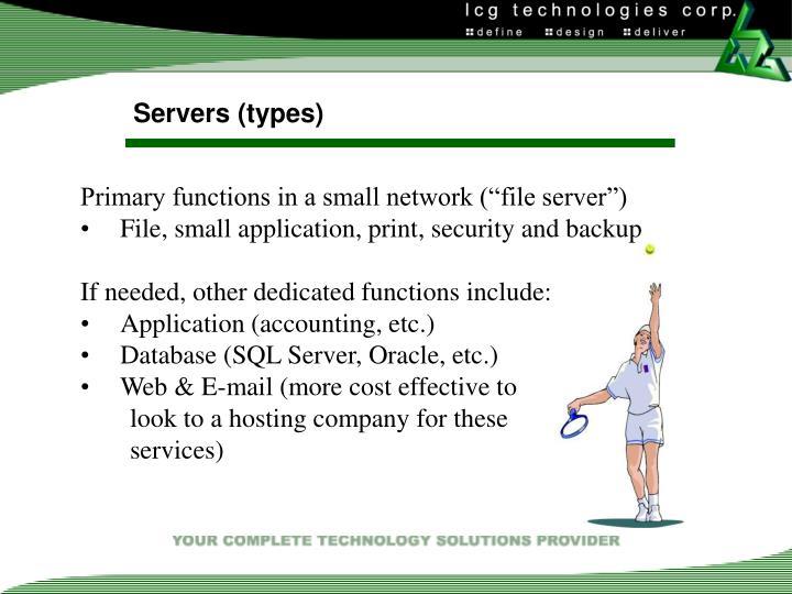Servers (types)