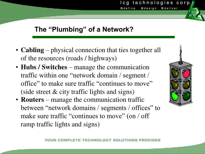 "The ""Plumbing"" of a Network?"