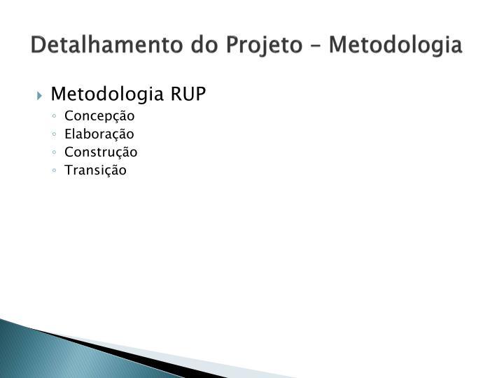 Detalhamento do Projeto