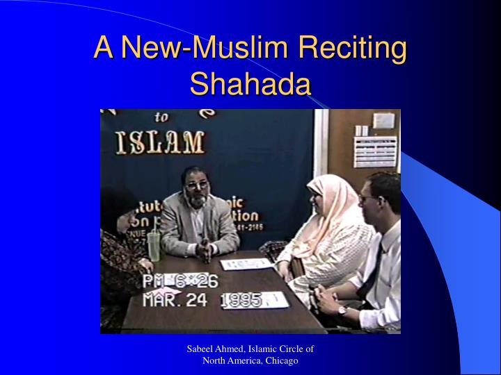 A New-Muslim Reciting Shahada