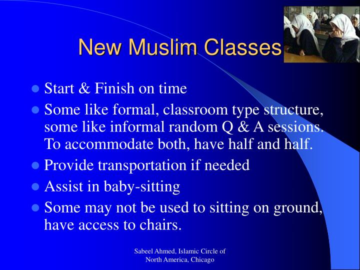 New Muslim Classes