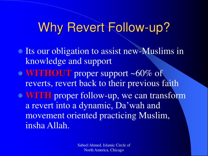 Why Revert Follow-up?