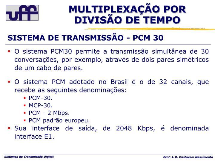 SISTEMA DE TRANSMISSÃO - PCM 30