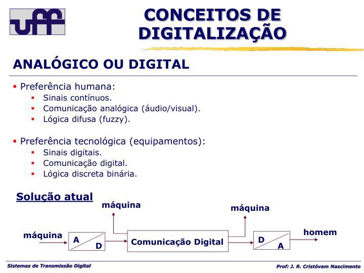 ANALÓGICO OU DIGITAL