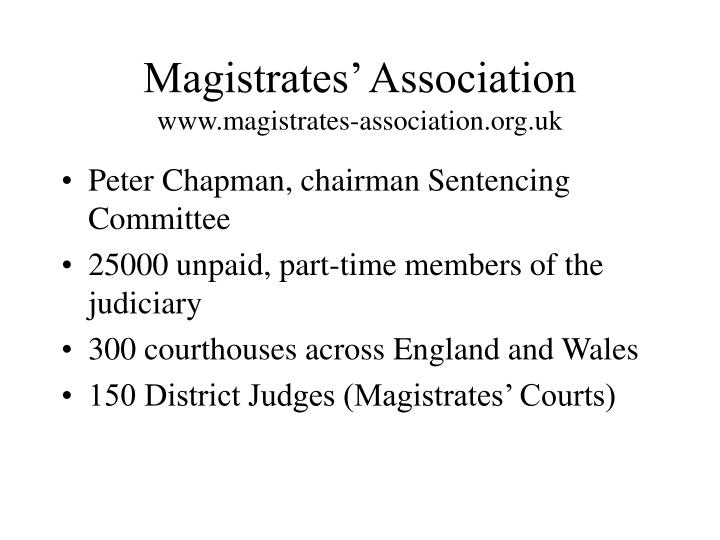 magistrates association www magistrates association org uk