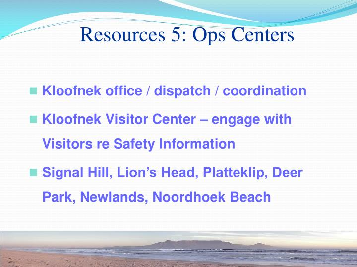 Resources 5: Ops Centers