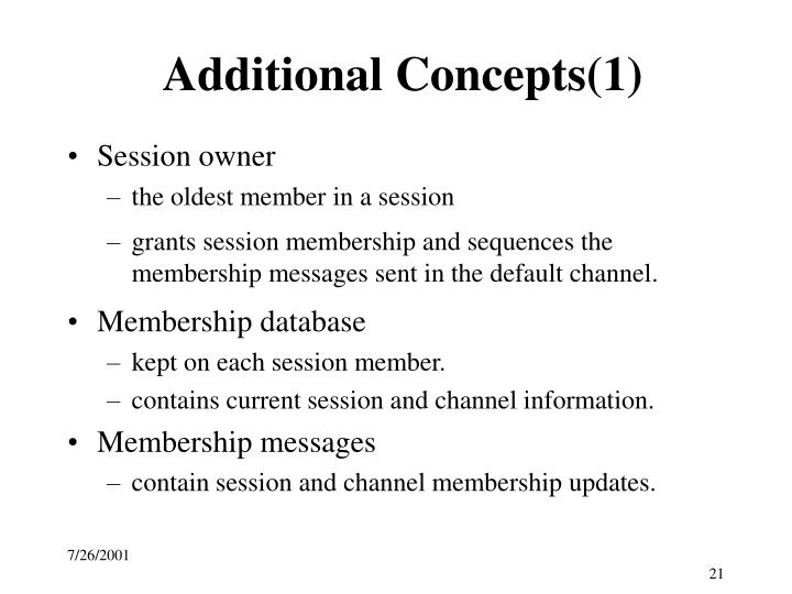 Additional Concepts(1)