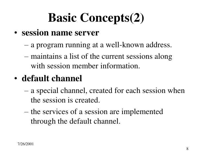 Basic Concepts(2)