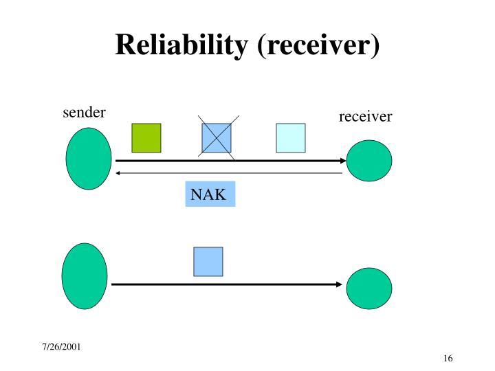 Reliability (receiver)