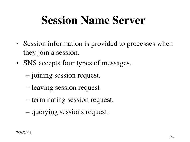 Session Name Server