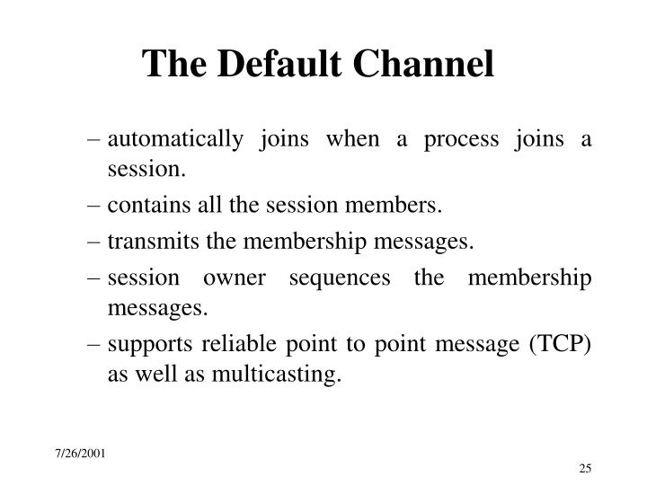 The Default Channel