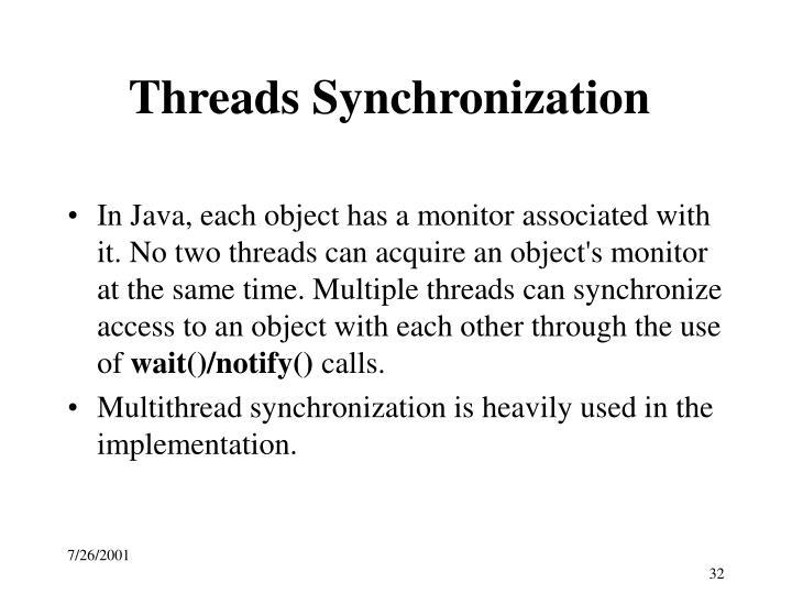 Threads Synchronization