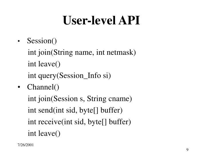 User-level API