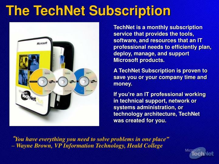The TechNet Subscription