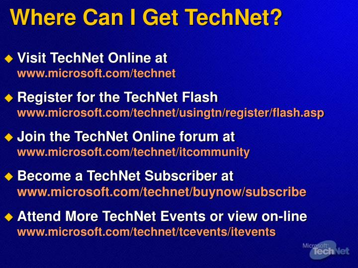 Where Can I Get TechNet?