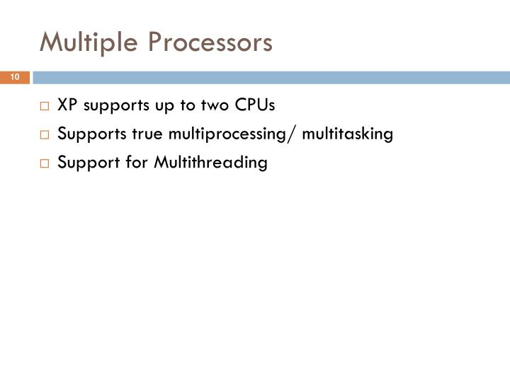 Multiple Processors