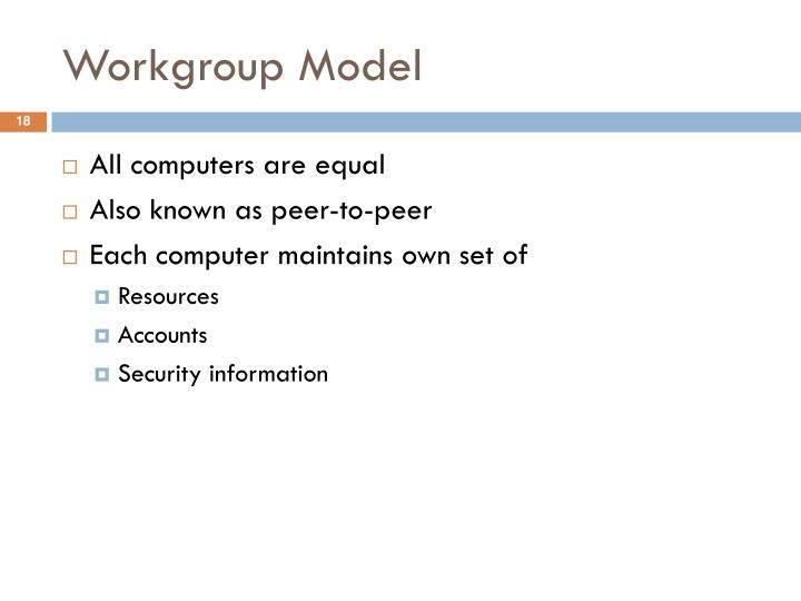 Workgroup Model