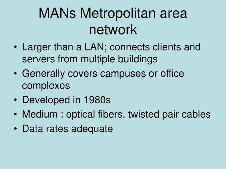 MANs Metropolitan area network
