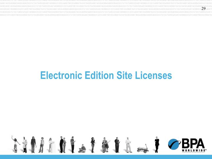Electronic Edition Site Licenses