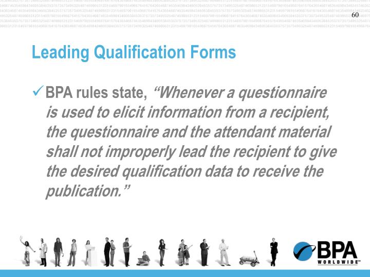 Leading Qualification Forms
