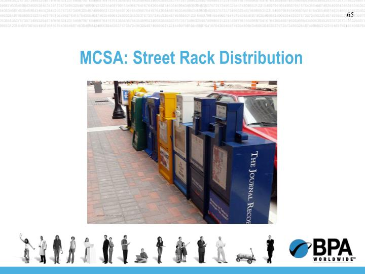 MCSA: Street Rack Distribution