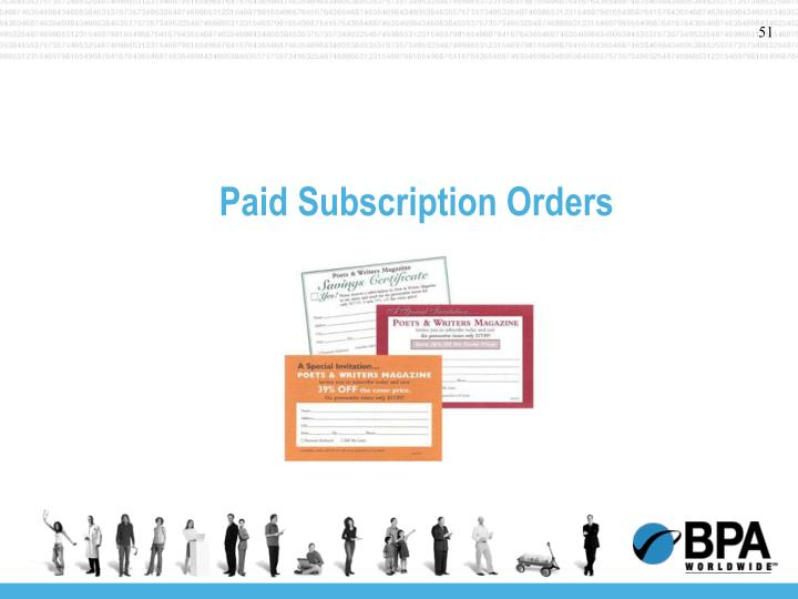 Paid Subscription Orders