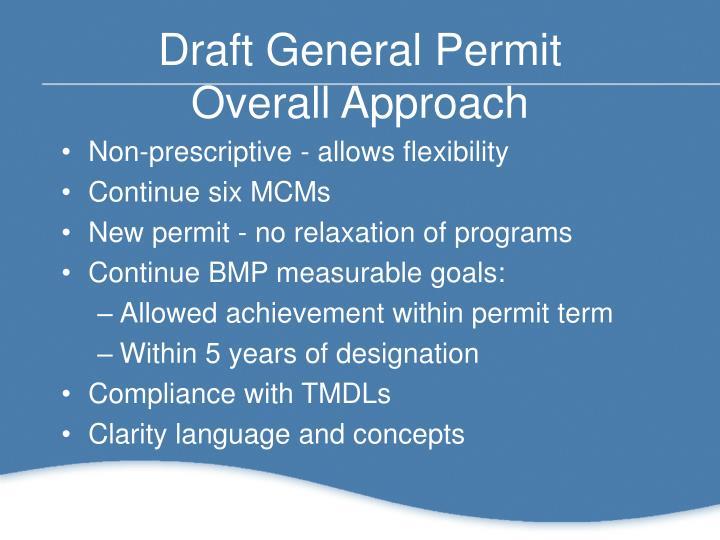 Draft General Permit