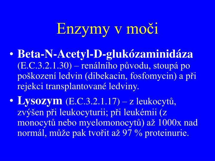 Enzymy v moči