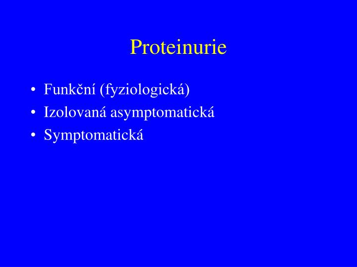 Proteinurie