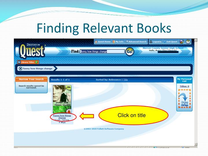 Finding Relevant Books