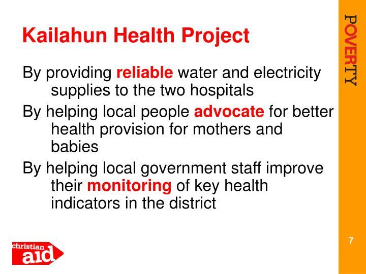 Kailahun Health Project