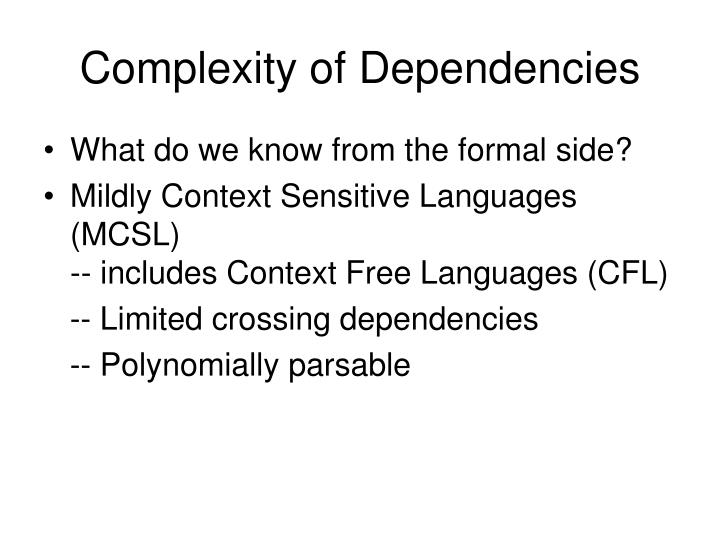 Complexity of