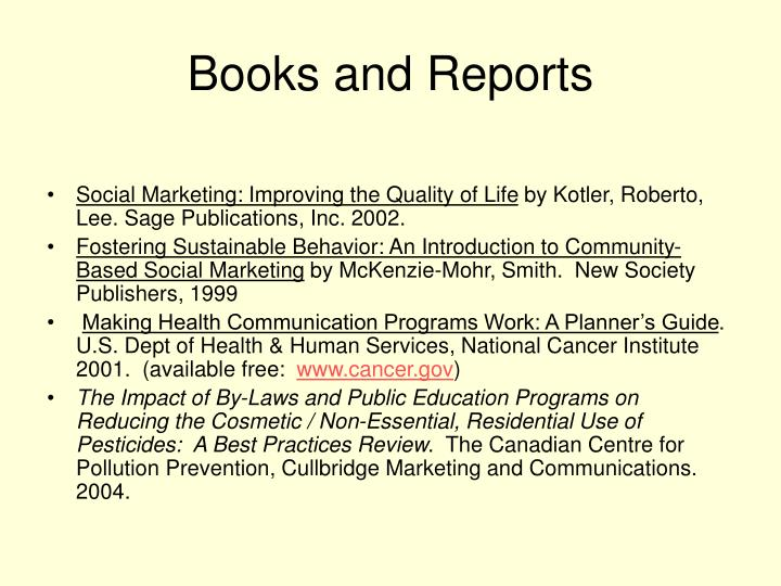 Books and Reports