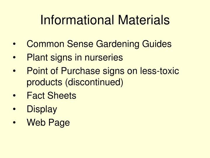 Informational Materials