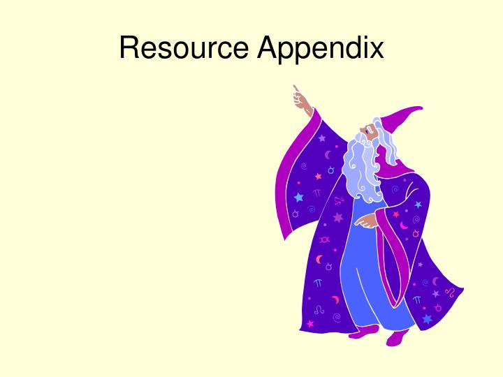 Resource Appendix