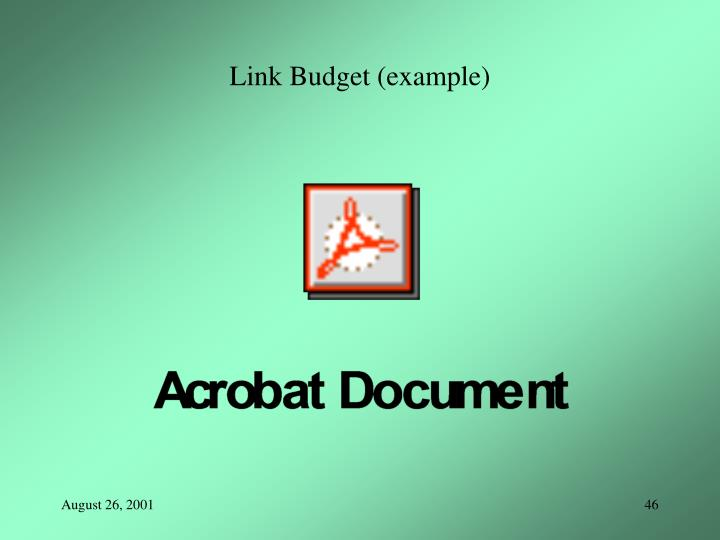 Link Budget (example)