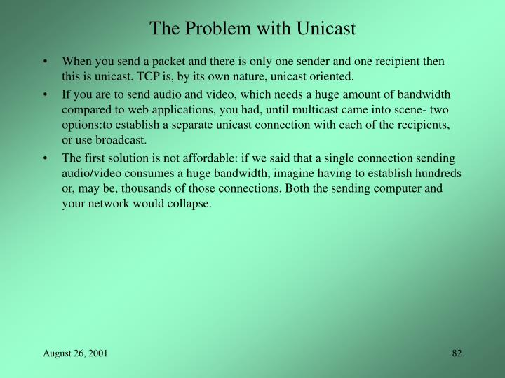 The Problem with Unicast