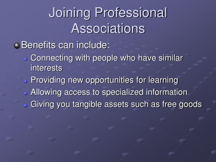 Joining Professional Associations