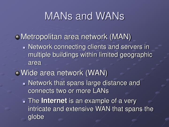 MANs and WANs